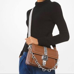 Michael Kors Crawford Studded Leather Crossbody